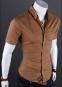 Летняя тонкая рубашка для мужчин с коротким рукавом  - 7