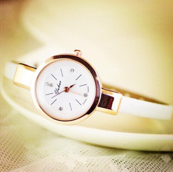 Новый часы г-жа хан издание мода контракт студенты наивысшее ремень ультра-тонких алмаз кварцевые часы