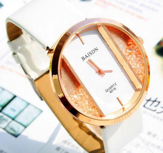 Evshsb ( 26 ) оптовая продажа мода выдолбите циферблат кожаный ремешок для часов кварцевые часы дамы цвета бесплатная доставка