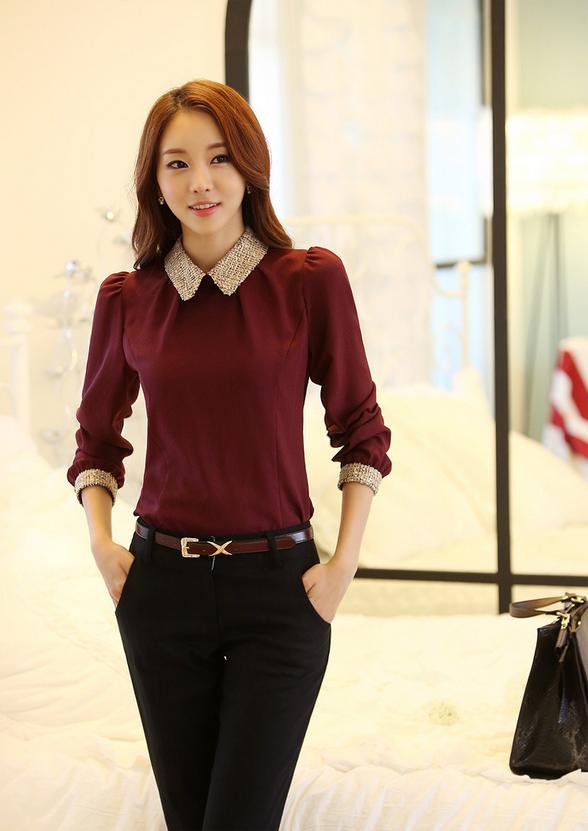Новая блузка с воротником для стильных женщин