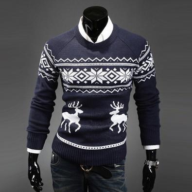 Новый тёплый свитер для мужчин