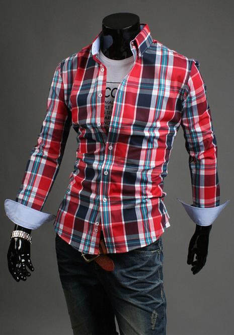 Модная мужская рубашка для мужчин