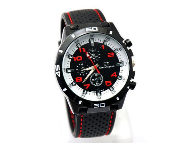 Новое поступление новый 2014 кварцевые мужские спортивные часы женская свободного покроя часы велоспорт F1 GT наручные часы прямая поставка резина силиконовые часы