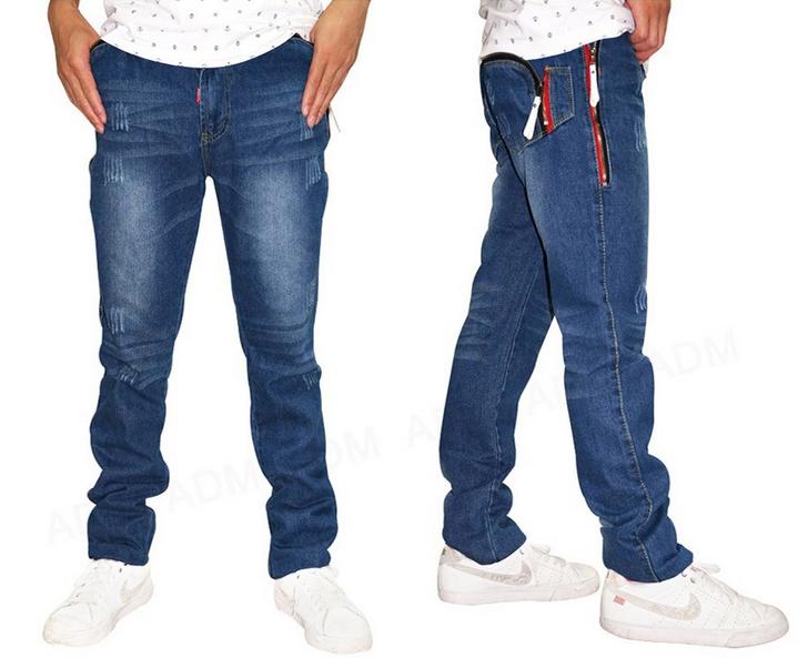 Весенние джинсы подростков для мужчин