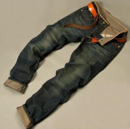 Модные тонкие джинсы карандаш для мужчин