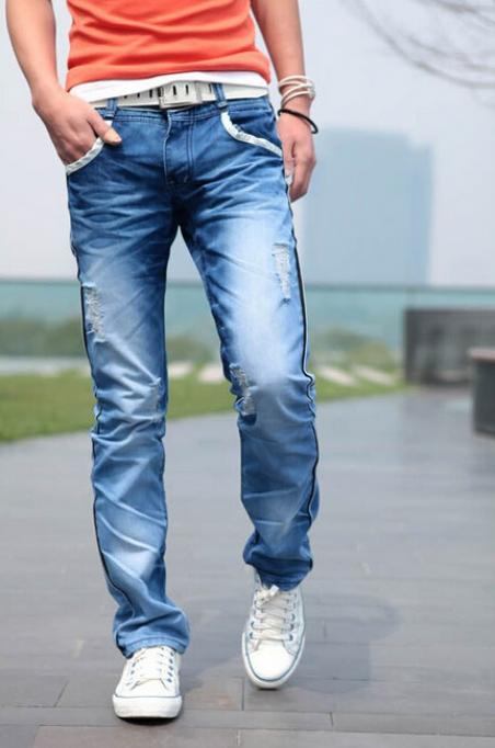 Мужские свободные джинсы для мужчин