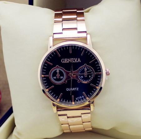 2014 новинка марка розовое золото сталь часы мужчины кварцевые часы женщины платье горный хрусталь дамы наручные часы аналоговые Orologio