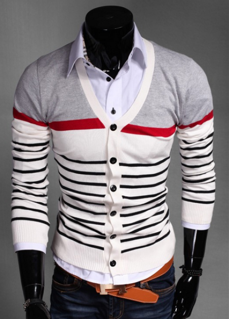 Стильный свитер с длинным рукавом для мужчин