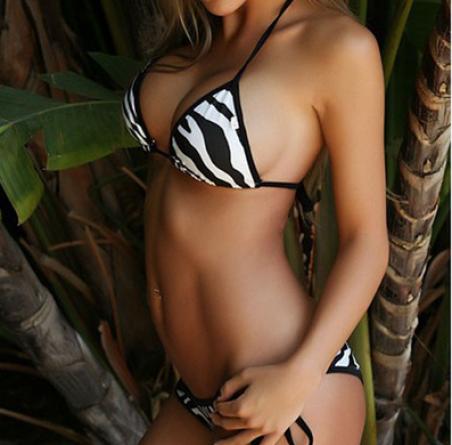 Купальник зебра, мини бикини