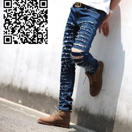Узкие стильные джинсы для мужчин