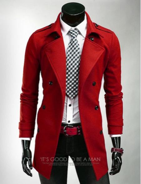 Стильное мужское пальто, зимняя и весенняя