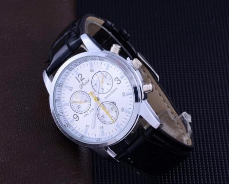 2014 лучшие продажи мода кожаный ремешок часы мужчин и женщин свободного покроя часы мужчины бизнес наручные часы спорт военная кварцевые часы