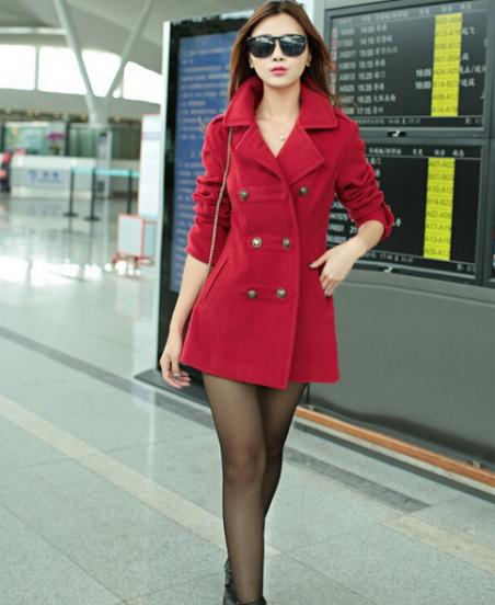 Шерстяное зимнее пальто  для женщин
