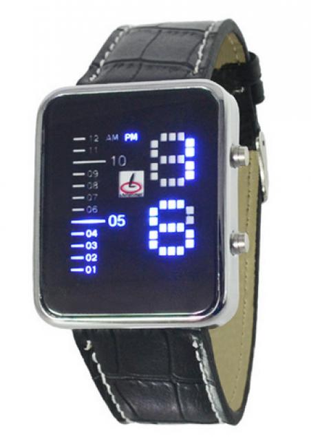 2015 новинка марка часы мужская платье из светодиодов электронные часы кожа часы для мужчин и женщина
