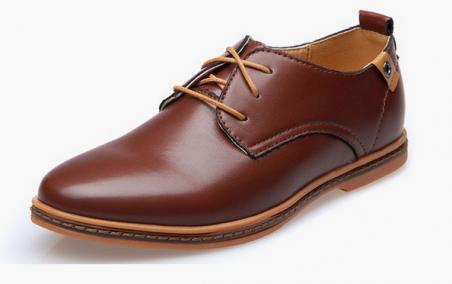 Модные кожанные туфли для мужчин