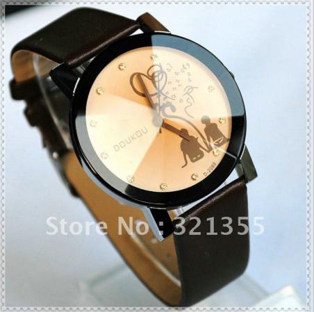 ( s ) оригинал бренд мода любителя женщин повелительниц девушок искусственная кожа платье с поясом кварцевые часы Relogio Feminino