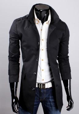 Стильное мужское пальто №2