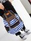 Полосатый рюкзак для женщин