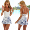 Белое сексуальное кружевное платье для женщин