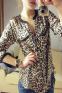 Леопардовая блузка для женщин