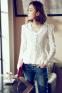 Тонкая прозрачная блузка для женщин